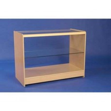 Glass Fronted Showcase 1200mm Maple
