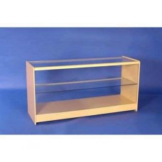 Glass Fronted Showcase 1800mm Maple