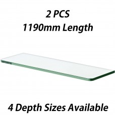 1190mm Toughened Glass Shelves 2PCS