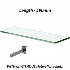 590mm Toughened Glass Shelves 4PCS With Brackets