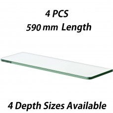 590mm Toughened Glass Shelves 4PCS