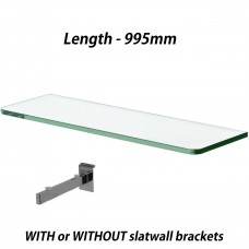 995mm Toughened Glass Shelves 2PCS With Brackets