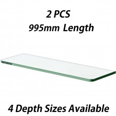 995mm Toughened Glass Shelves 2PCS