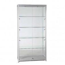 Wide Lockable Display Cabinet - Flat Pack - 8 Lights