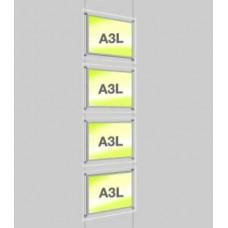 A3 Landscape Light Panel x 4 On Cables