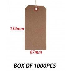 1000 Buff Strung Luggage Tags 134 x 67mm