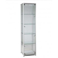 1980mm Aluminium Lockable Cabinet With 5 LED Lights